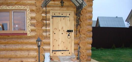 дверь для бани и сауны из дерева