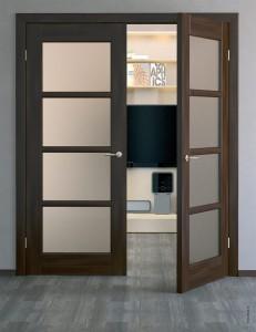 Двери межкомнатные распашные двустворчатые