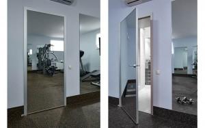 Варианты исполнения межкомнатной двери с зеркалом