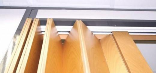 Особенности установки двери гармошки