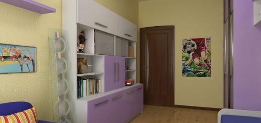 Внешний облик двери в детской комнате