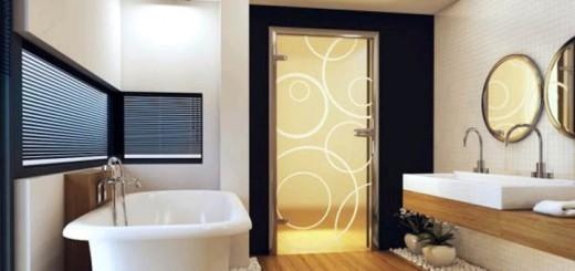 Выбираем материал для двери в ванную комнату
