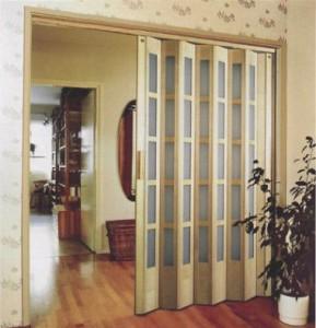 Установка раздвижной двери гармошки