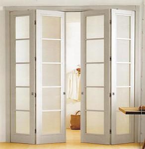 Двери двойные складные и поворотные