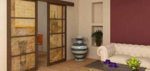 Свойства, описание и преимущества двойных раздвижных межкомнатных дверей