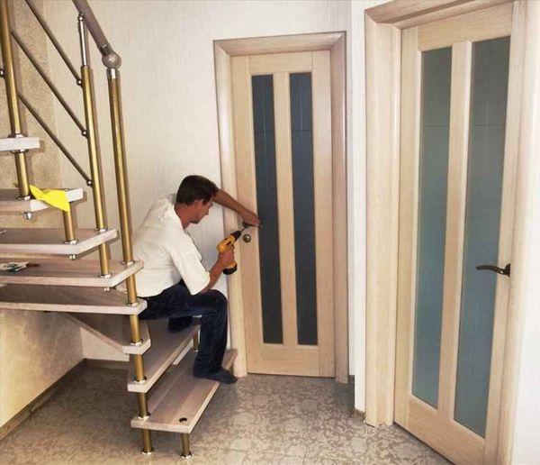 Ремонт установка межкомнатных дверей своими руками
