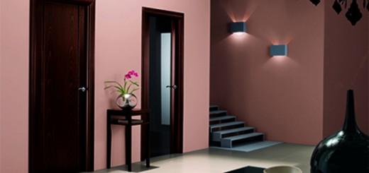 Темные двери и интерьер