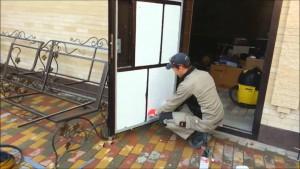 Утепление входной не разборной металлической двери