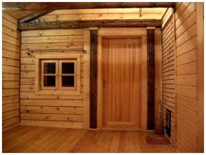 Какое дерево применяют при изготовлении дверей для бани