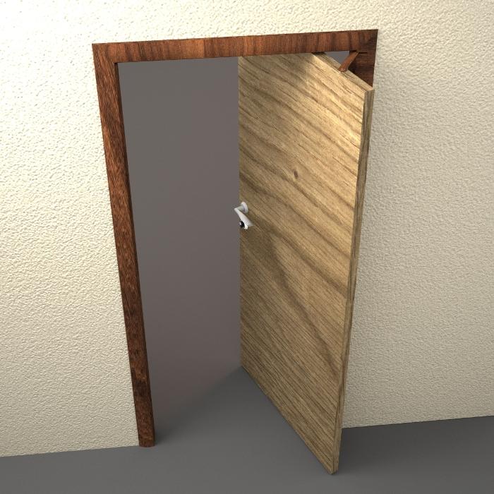 Поворотную дверь своими руками