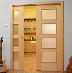 Преимущества раздвижной в стену двери