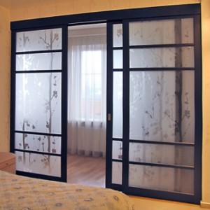 Двери межкомнатные: стеклянные раздвижные