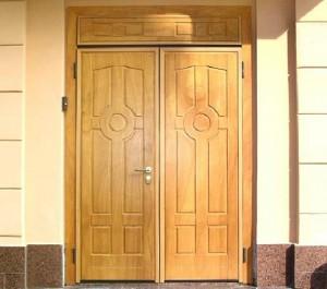 Двери двухстворчатые входные металлические