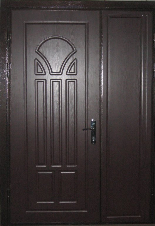 Двери двойные входные фото